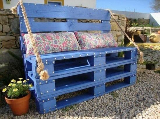 DIY Blue Chair